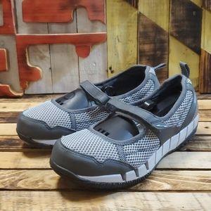 L.L.Bean Slip-On Gray Sneakers Women's Size 9 Wide
